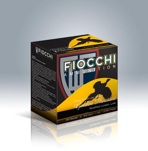 """Fiocchi Golden Pheasant 20ga 2-3/4"""" 1oz #5 Shot37591"""