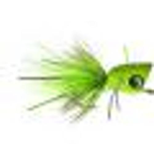 Bass Popper Fluorescent Green Splatter 1023807