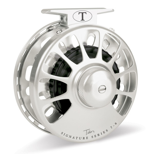 Signature Series 7-8wt Frost Silver Reel with Black Hub33576