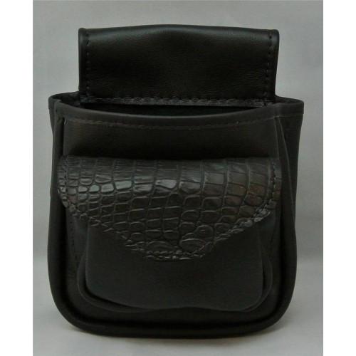 Shell Bag- Crocodile/Black Leather36574