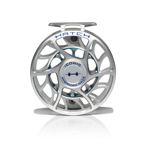 Hatch Iconic 9 Plus Clear/Blue Mid Arbor Reel53915