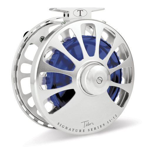 Signature Series 11-12wt Silver Reel Blue Hub32749