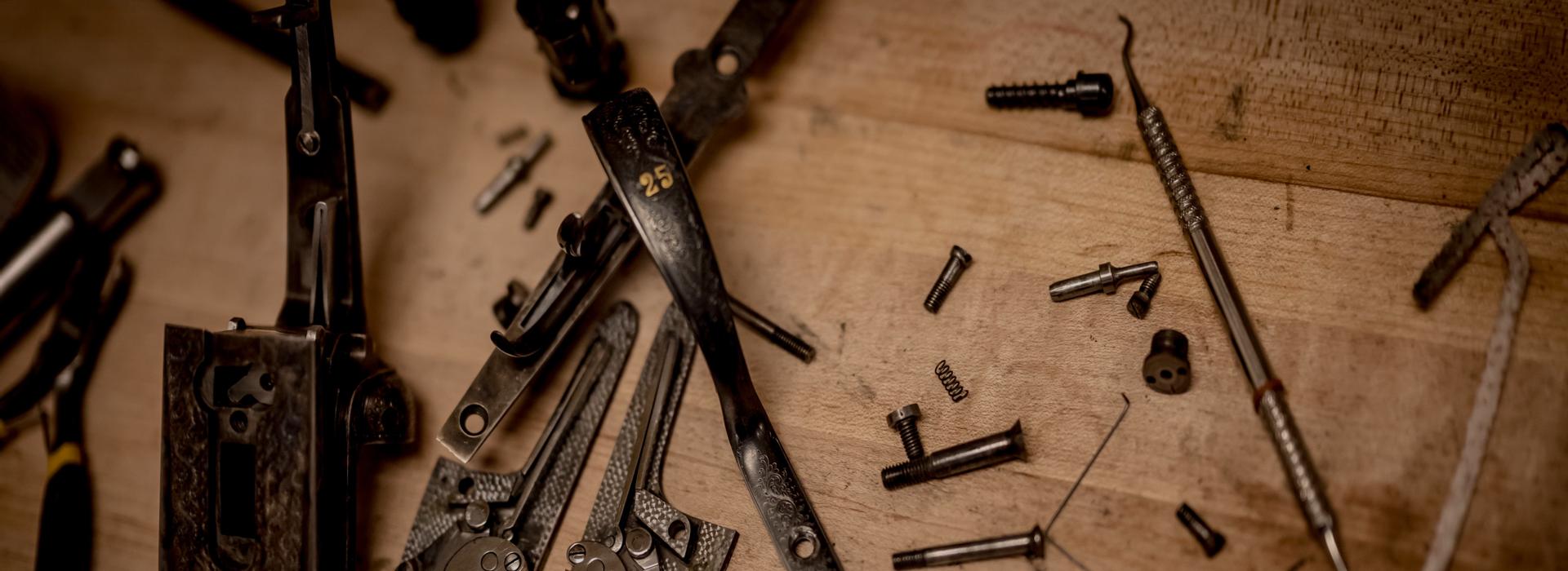 table of gunsmithing tools