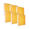 6 Pack of the Orange Screen Air Filter