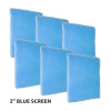 "6 Pack of Blue Screen 2"" Air Filter"