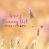 Spring Cleaning List - #1 is very important!