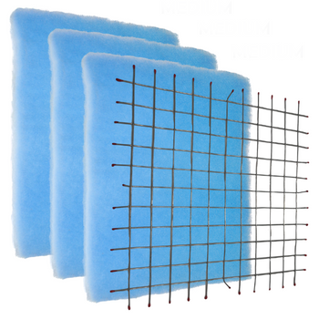 Starter Pack- DIY Permanent Grid and 3 Blue Screens.  Most affordable! The design of the Blue Screen has 2 zones which gives a higher dust-loading capacity than pleated with the Best Air Flow for the HVAC system. It does not have the anti-microbial and tackifier for allergies as the Green and Orange Screens. Often used for Commercial, Restaurant, Retail locations.  The air filters are pre-cut to size.    Comparable to MERV 7