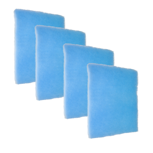 """4 Pack of Blue Screen 1"""" Air Filter- Most affordable! The design of the Blue Screen has 2 zones which gives a higher dust-loading capacity than pleated with the Best Air Flow for the HVAC system. It does not have the anti-microbial and tackifier for allergies as the Green and Orange Screens. Often used for Commercial, Restaurant, Retail locations.  The air filters are pre-cut to size.    Comparable to MERV 7"""
