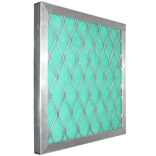 "Permanent Aluminum Frame:  Holds 2"" Green/ Blue / Orange Screens"
