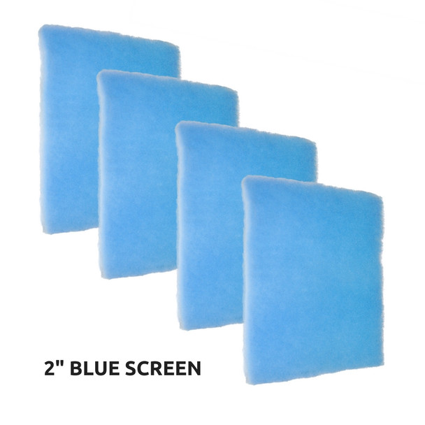 "4 Pack of Blue Screen 2"" Air Filter"