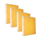 4 Pack of the Orange Screen Air Filter