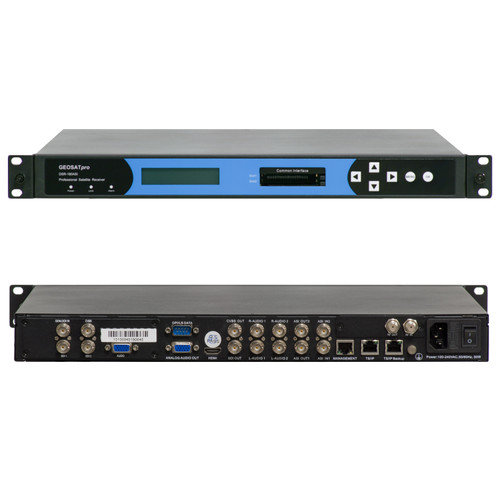 COMMERCIAL RECEIVER DECODER - GEOSATpro DSR180ASI 708CC RACK MOUNT IRD WITH 2xSDI, 2xASI and IP I/O