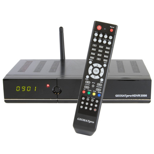 SATELLITE RECEIVER - GEOSATPRO HDVR3500 MPEG4/2 FTA/DVR WITH 16GB RECORDING MEMORY