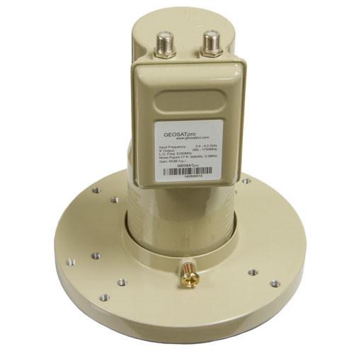GEOSATpro C2 Phase Lock Loop LNBF - C-BAND DUAL OUTPUT PLL LNBF