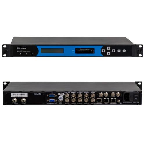 RECEIVER/HEADEND - GEOSATpro DSR180QAM RACK MOUNT IRD WITH SDI, ASI, IP, QAM-B (64, 256), DUAL DVBS-2 Tuner, 4K QAM RF out.