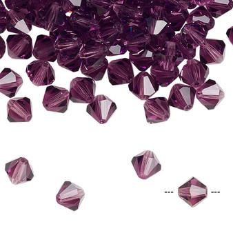 6mm - Preciosa Czech - Amethyst - 24pk - Faceted Bicone Crystal