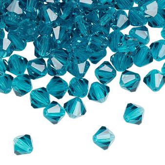 6mm - Preciosa Czech - Blue Zircon - 24pk - Faceted Bicone Crystal