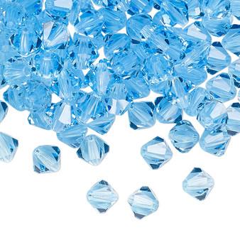 6mm - Preciosa Czech - Aquamarine - 24pk - Faceted Bicone Crystal
