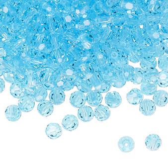 4mm - Preciosa Czech - Aqua Bohemica - 24pk - Faceted Round Crystal