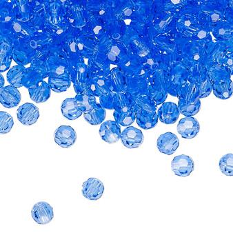 4mm - Preciosa Czech - Sapphire - 24pk - Faceted Round Crystal