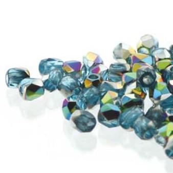 FPR0260020-28101 - TRUE 2 - Aqua Vitrail - 100pcs - Czech Fire Polished beads