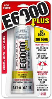 Adhesive, E6000® Plus. Sold per 1.9-fluid ounce tube.