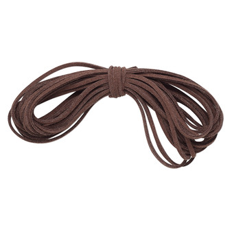 Cord, faux suede lace, brown, 3mm. Sold per pkg of 5 yards.