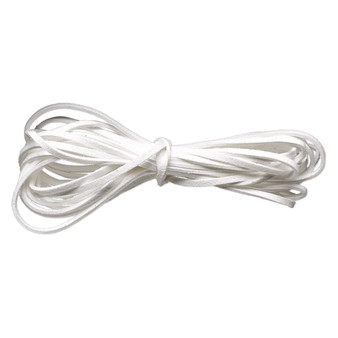 Cord, faux suede lace, white, 3mm. Sold per pkg of 5 yards.