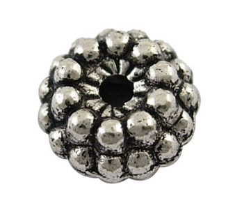 6mm - Antique Silver - 30gms (approx 60) - Rondelle Spacer Bead - Zinc Aloy
