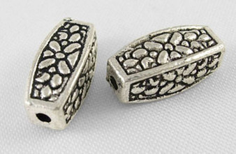 12x5mm - Antique Silver - 40gms (approx 30 beads) - Alloy Spacer Bead