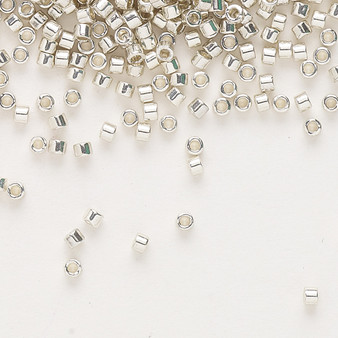 DB0035 - 11/0 - Miyuki Delica - opaque galvanized silver - 50gms - Cylinder Seed Beads
