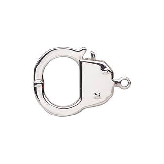 Clasp, tab, stainless steel, 22x19mm handcuff. Sold individually.
