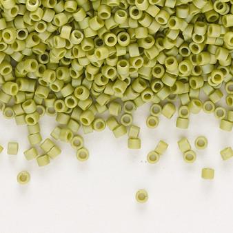 DB2309 - 11/0 - Miyuki Delica - Opaque Matte Rainbow Seaweed Green - 7.5gms - Cylinder Seed Beads