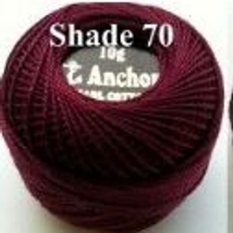 Anchor Pearl Crochet Cotton Size 8 - 10gm Ball - (70)