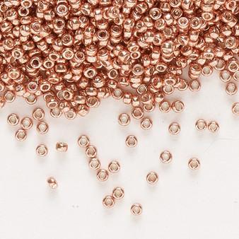 15-1072 - 15/0 - Miyuki - Opaque Galvanized Muscat - 35gms Glass Round Seed Beads