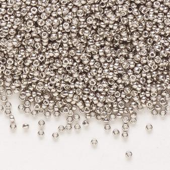 15-1095 - 15/0 - Miyuki - Opaque Galvanized Pewter - 35gms Glass Round Seed Beads
