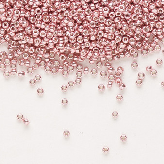 15-1067 - 15/0 - Miyuki - Opaque Galvanized Pink Blush - 35gms Glass Round Seed Beads