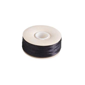 Thread, Nymo®, nylon. 2 x Bobbin Size OO - 110yds - Black