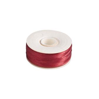 Thread, Nymo®, nylon. 2 x Bobbin Size OO - 110yds - Red