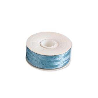 Thread, Nymo®, nylon. 2 x Bobbin Size OO - 110yds - Turquoise Blue