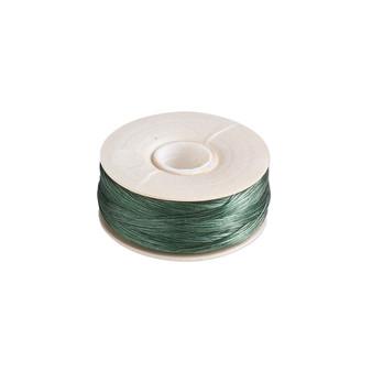 Thread, Nymo®, nylon. 2 x Bobbin Size OO - 110yds - Green