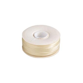 Thread, Nymo®, nylon. 2 x Bobbin Size OO - 110yds - Cream
