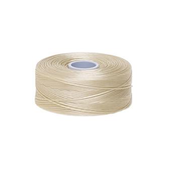 Thread, C-Lon®, nylon. 2 x Bobbin Size D - 78yds Beige