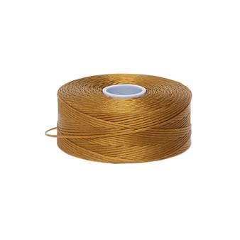 Thread, C-Lon®, nylon. 2 x Bobbin Size D - 78yds Gold