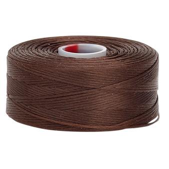Thread, C-Lon®, nylon. 2 x Bobbin Size D - 78yds Brown