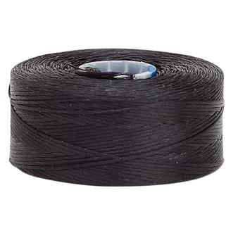 Thread, C-Lon®, nylon. 2 x Bobbin Size AA - 75yds Black