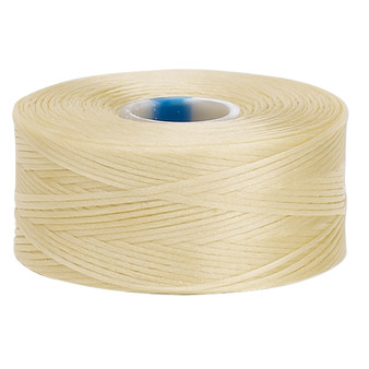 Thread, C-Lon®, nylon. 2 x Bobbin Size AA - 75yds Dark Cream