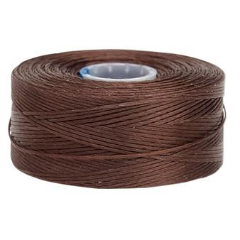 Thread, C-Lon®, nylon. 2 x Bobbin Size AA - 75yds Brown