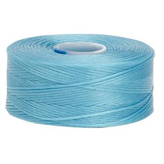 Thread, C-Lon®, nylon. 2 x Bobbin Size AA - 75yds Turquoise Blue