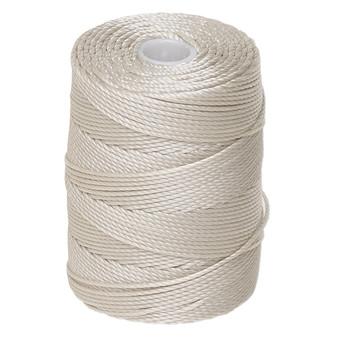 Thread, C-Lon®, nylon. 1 x Spool Size 0.5mm - 92yds (3-ply twisted) Beige